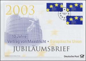 2373 Europäische Union & Vertrag von Maastricht 2003 - Jubiläumsbrief