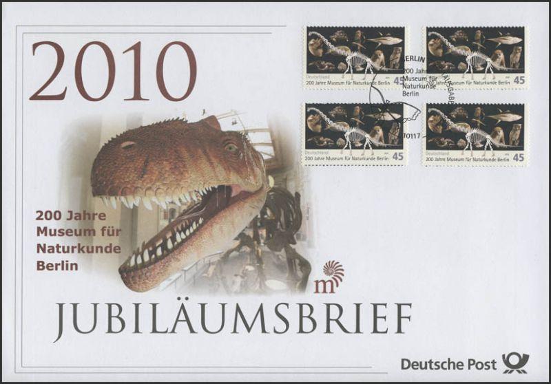 2780 Museum für Naturkunde Berlin 2010 & Dinosaurier- Jubiläumsbrief