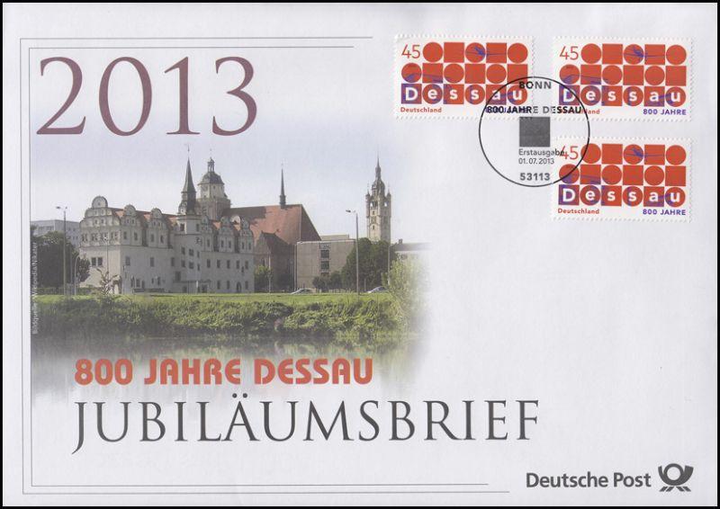 3019 Stadt Dessau & Bauhaus 2013 - Jubiläumsbrief