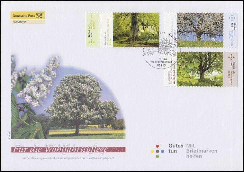 2980-2982 Wofa Bäume 2013 - Ersttagsbrief mit dem Plus