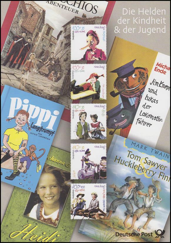2190-2194 Jugend 2001: Pippi, Heidi, Pinocchio etc. - EB 3/2001
