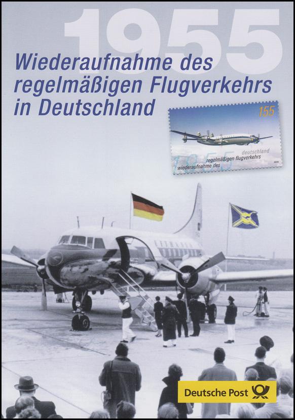 2450 Wiederaufnahme Flugverkehr Lufthansa & Flugzeug - EB 2/2005