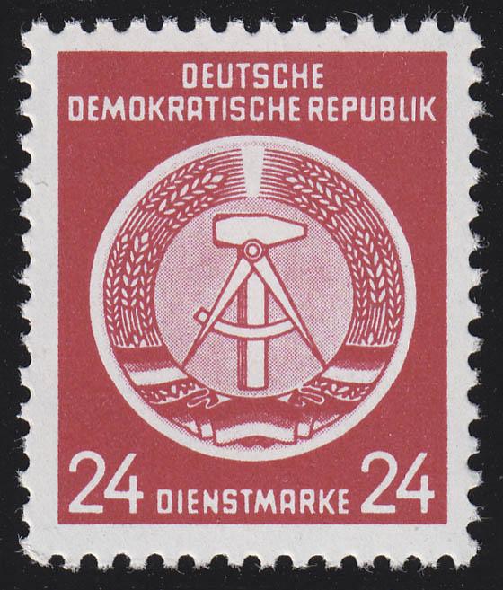 9x XI Dienst-A Zirkel 24 Pf. Wz.2X I, ** postfrisch