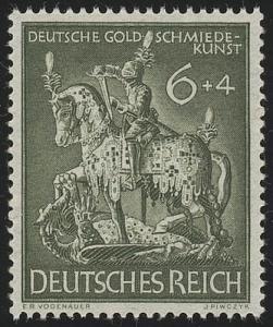 860 Gesellschaft für Goldschmiedekunst 1943 6 Pf **