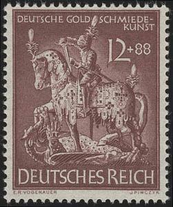 861 Gesellschaft für Goldschmiedekunst 1943 12 Pf **