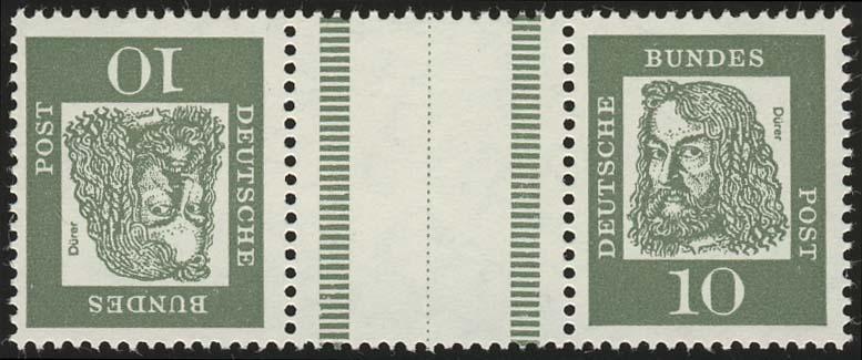 KZ1 Zusammendruck Dürer, postfrisch