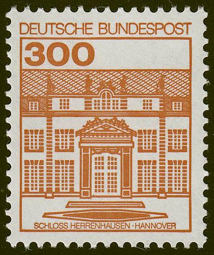 1143AII Burgen und Schlösser 300 Pf Herrenhausen, ** LETTERSET