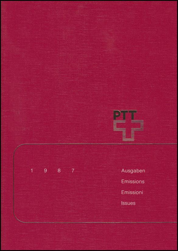 PTT-Jahrbuch Schweiz 1987, alle Marken mit Ersttagsstempel