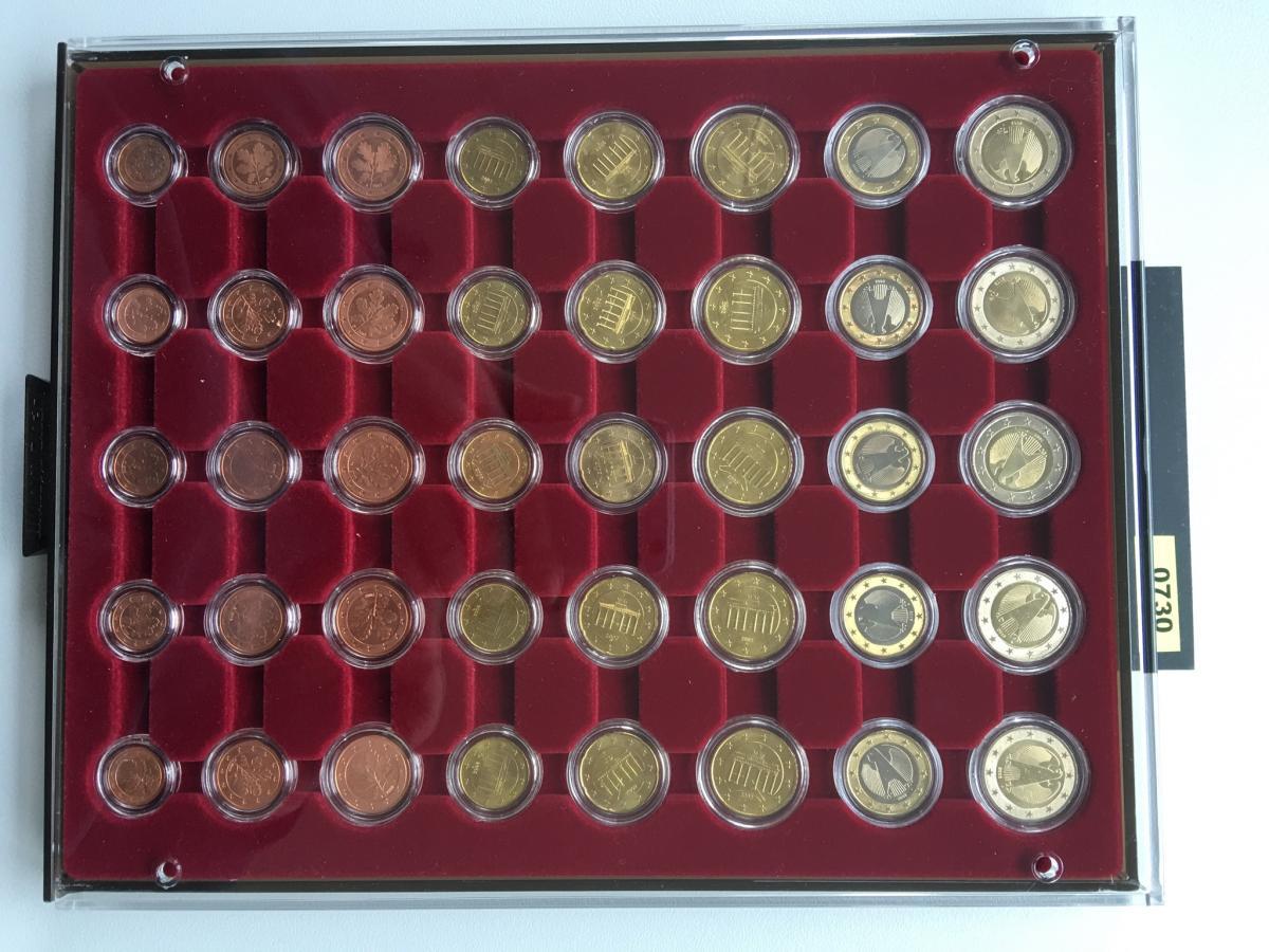 Deutschland Euro-Kursmünzensätze 2002 ADFGJ unzirkuliert bankfrisch in Kapseln