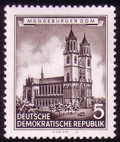 491 Historische Bauwerke 5 Pf Magdeburger Dom **