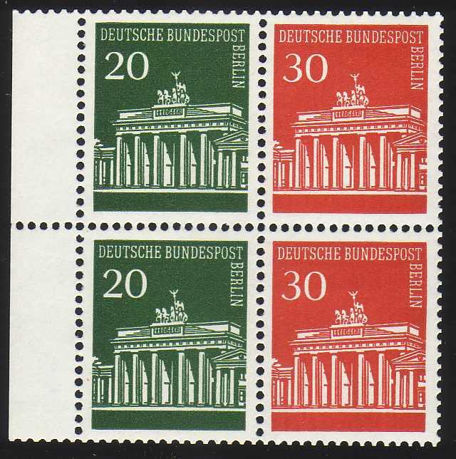 HBl. 19 aus MH 14 Brandenburger Tor, ** postfrisch
