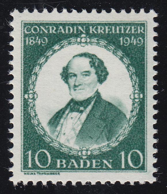Baden 53II Conradin Kreutzer, Type II, **