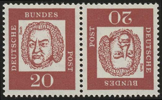 K4 Zusammendruck Bach, postfrisch