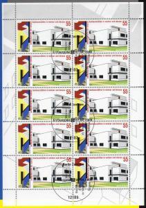 2394 Bauhaus Weimar und Dessau - 10er-Bogen auf Kartonvorlage, ESST