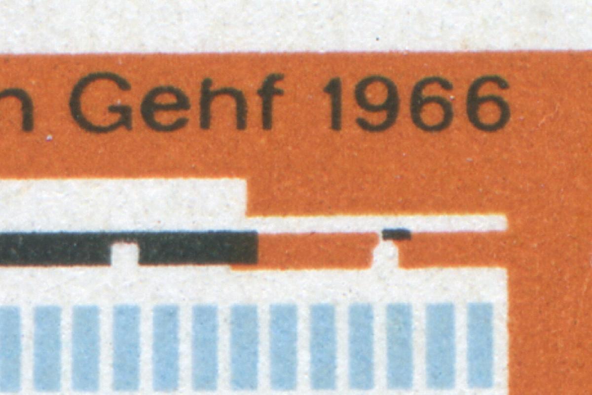 1178I WHO Genf 1966 mit PLF I h statt n in Genf, Feld 18 **