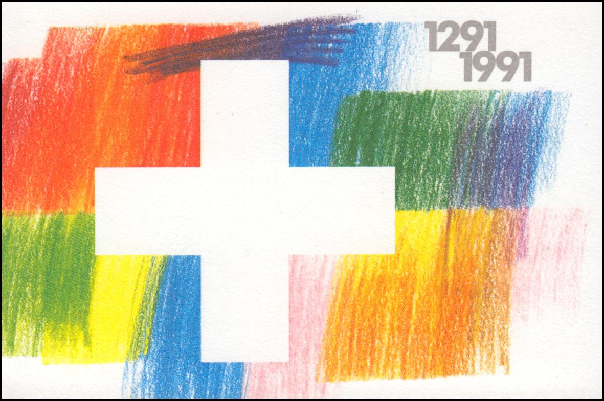 Schweiz Markenheftchen 0-89, Eidgenossenschaft 1991, **