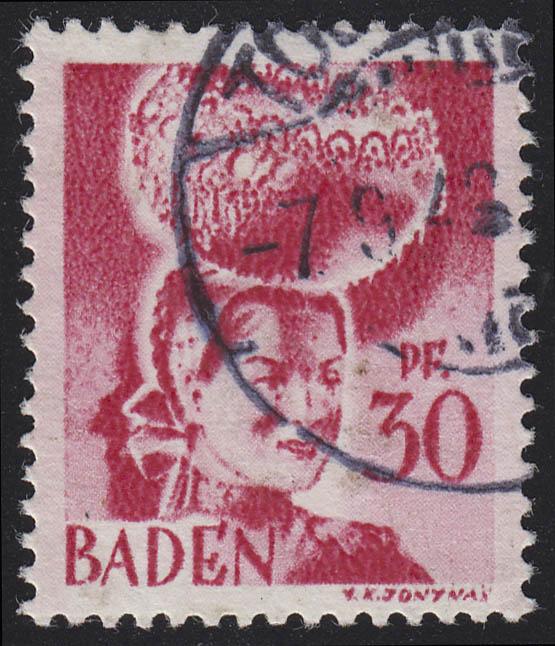 Baden 23y I Freimarke 30 Pf. O