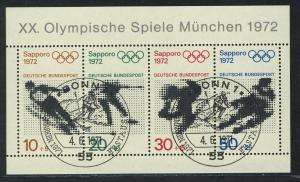 Block 6 Olympische Spiele München und Sapporo, ESSt Bonn 4.6.1971