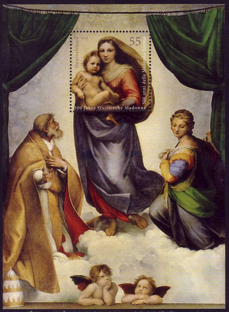 Block 79 Sixtinische Madonna, ** postfrisch