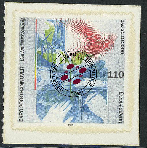 2112 EXPO 2000 Hannover, selbstklebend, aus MH 40, O