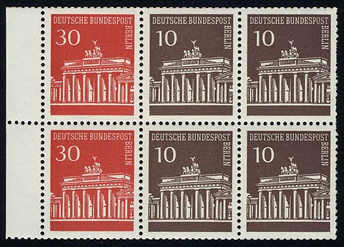 HBl. 14 aus MH 6 Brandenburger Tor, postfrisch **
