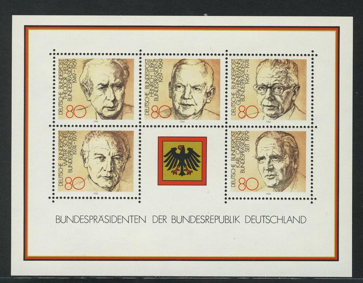 Block 18 Bundespräsidenten 1982, postfrisch **