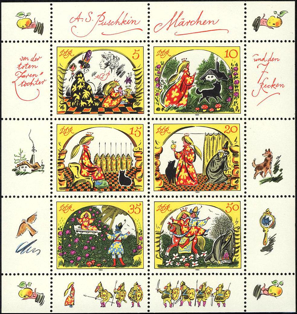 2914-2919 Märchen-Kleinbogen 1984, postfrisch