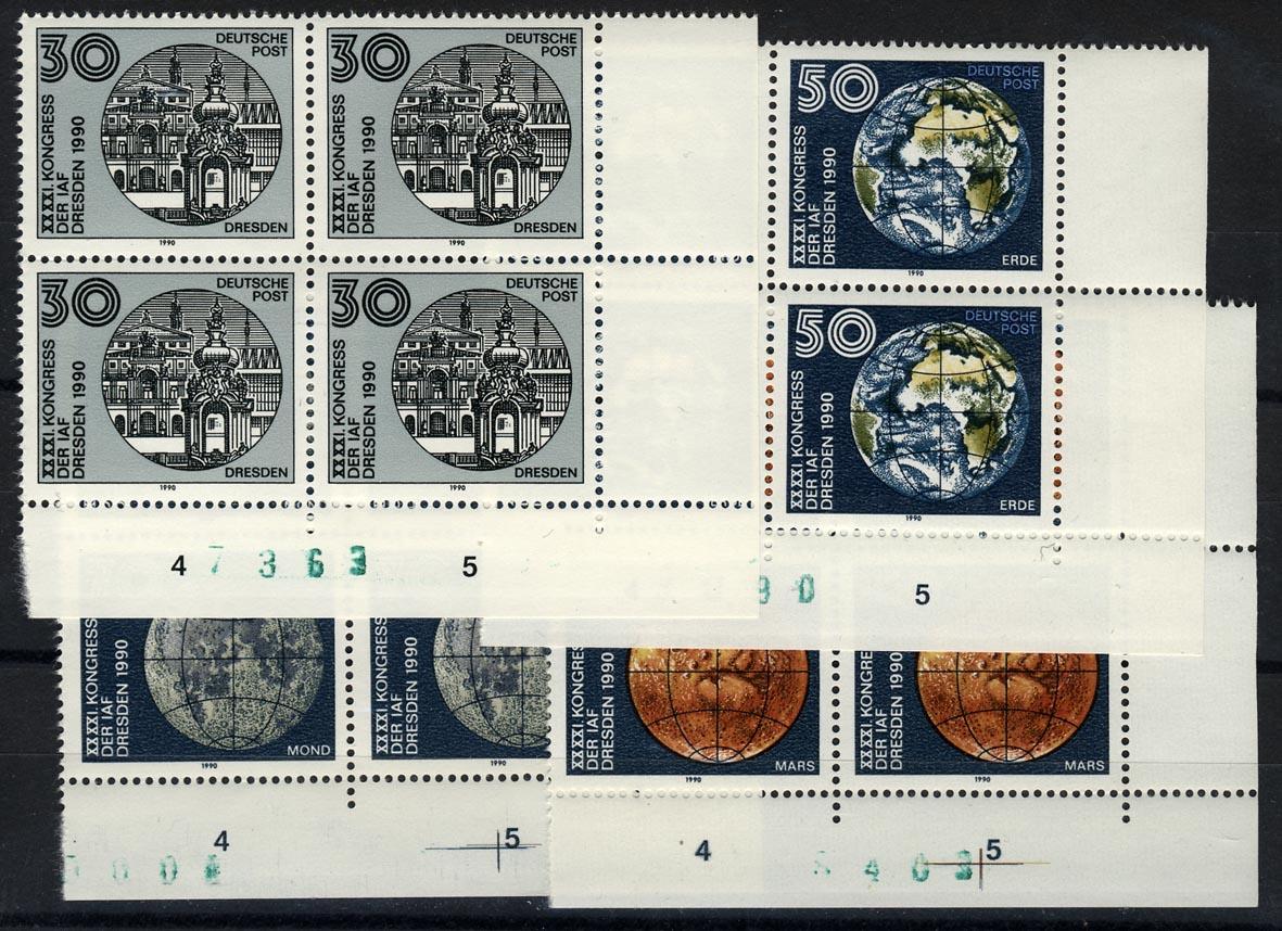 3360-3363 IAF-Kongreß 1990, E-Vbl u.r., Satz **
