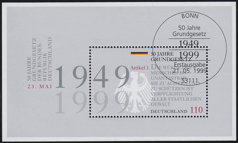 Block 48 Grundgesetz 1999, ESSt Bonn