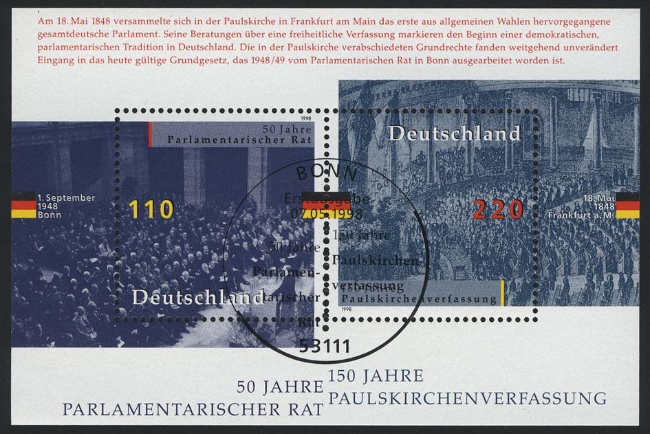 Block 43 Parlamentarischer Rat 1998, ESSt Bonn
