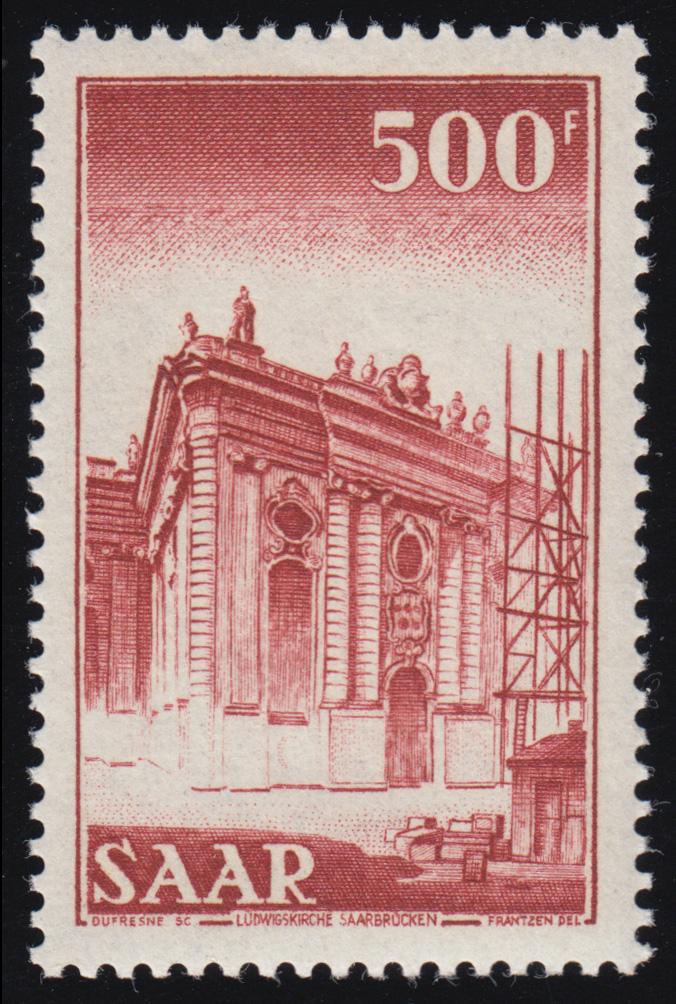 Saarland 337 Freimarke 500 Fr, postfrisch **