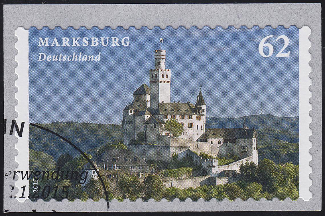 3127 Burgen und Schlösser - Marksburg, selbstklebend von der Rolle O