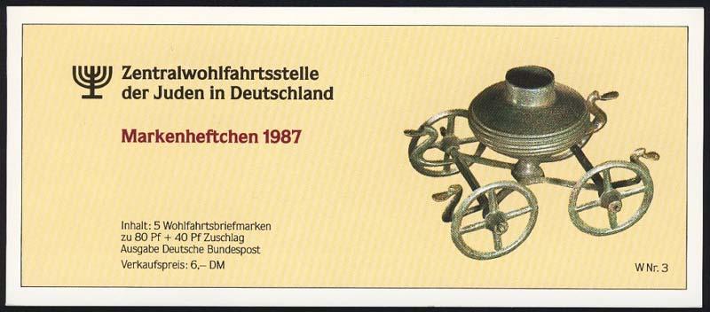 ZWStJ/Wofa 1987 Gold & Silber - Bursenreliquiar 80 Pf, 5x1336, postfrisch