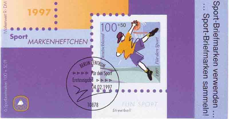 Sport 1997 Fun-Sport Streetball 100 Pf, 6x1900, postfrisch