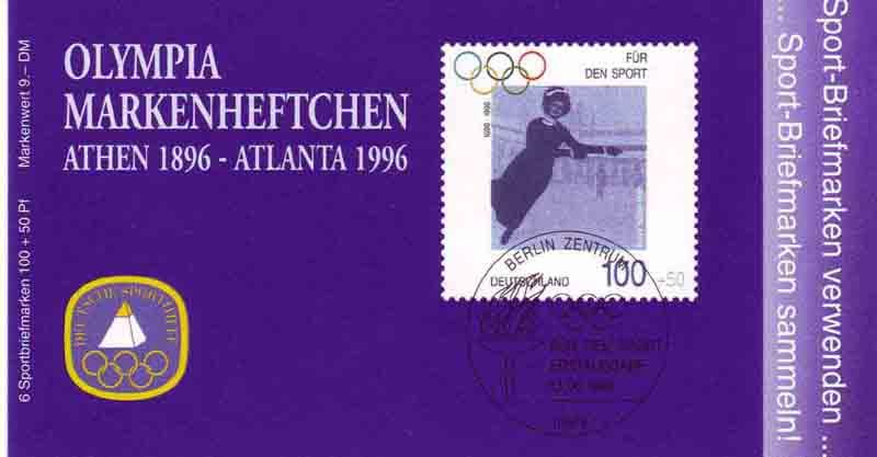 Sport 1996 Olympiasiegerin Annie Hübler-Horn 100 Pf 6x1863 postfrisch