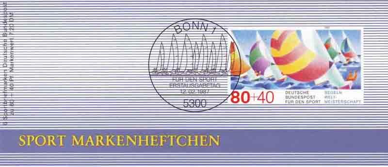 Sport 1987 Segelregatta 80 Pf, 6x1310, ESSt Bonn