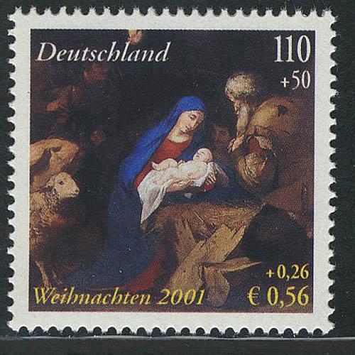 2227I Weihnachten 110+50 Pf/0.56+0.28 Euro; Type I, **