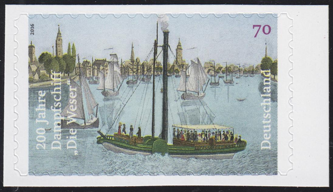 3279 Dampfschiff Die Weser, selbstklebend aus Folienblatt 62, **