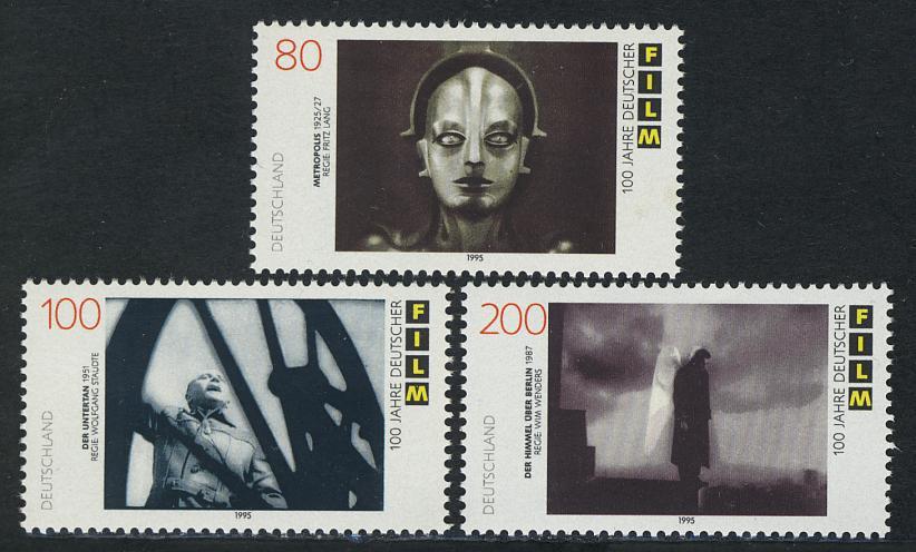 1815-1817 Einzelmarken aus Block 33 Deutscher Film, 3 Werte, Satz **