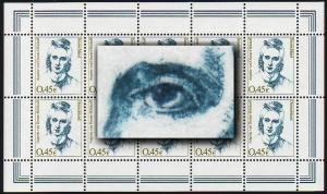 2295I Frauen Droste-Hülshoff - 10er-Bogen mit PLF I auf allen 10 Feldern **
