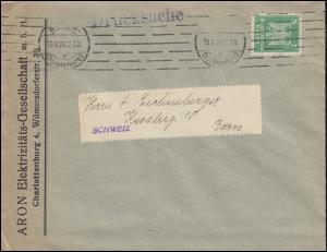 Firmenlochung A.H. verschoben auf Adler 5 Pf. DS BERLIN-CHARLOTTENBURG 16.6.26