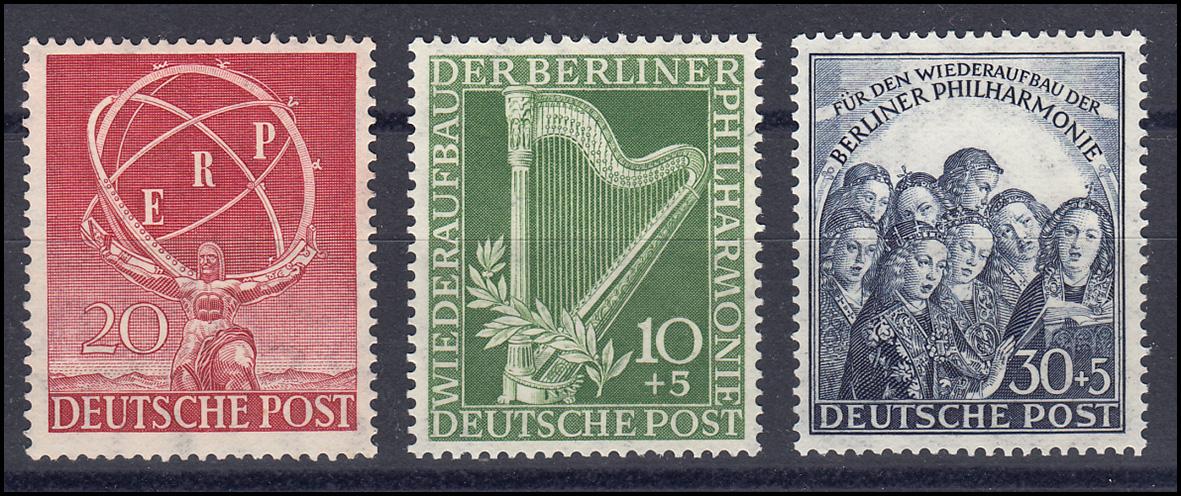 71-73 Berlin-Jahrgang 1950 komplett, postfrisch **