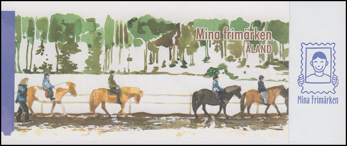 Aland-Markenheftchen 302 Meine Marke - Pferd mit Reiter, selbstklebend ** 0