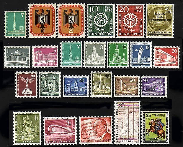 135-158 Berlin-Jahrgang 1956 komplett, postfrisch ** 0