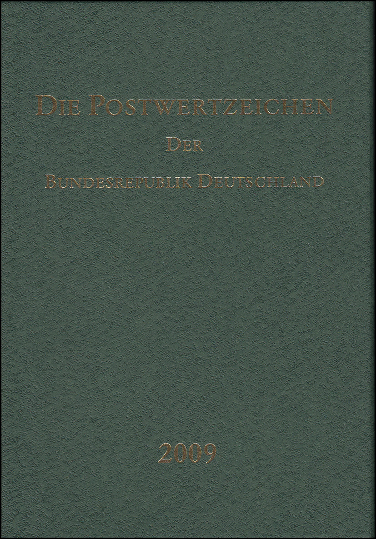 Jahrbuch Bund 2009, postfrisch komplett - wie von der Post verausgabt