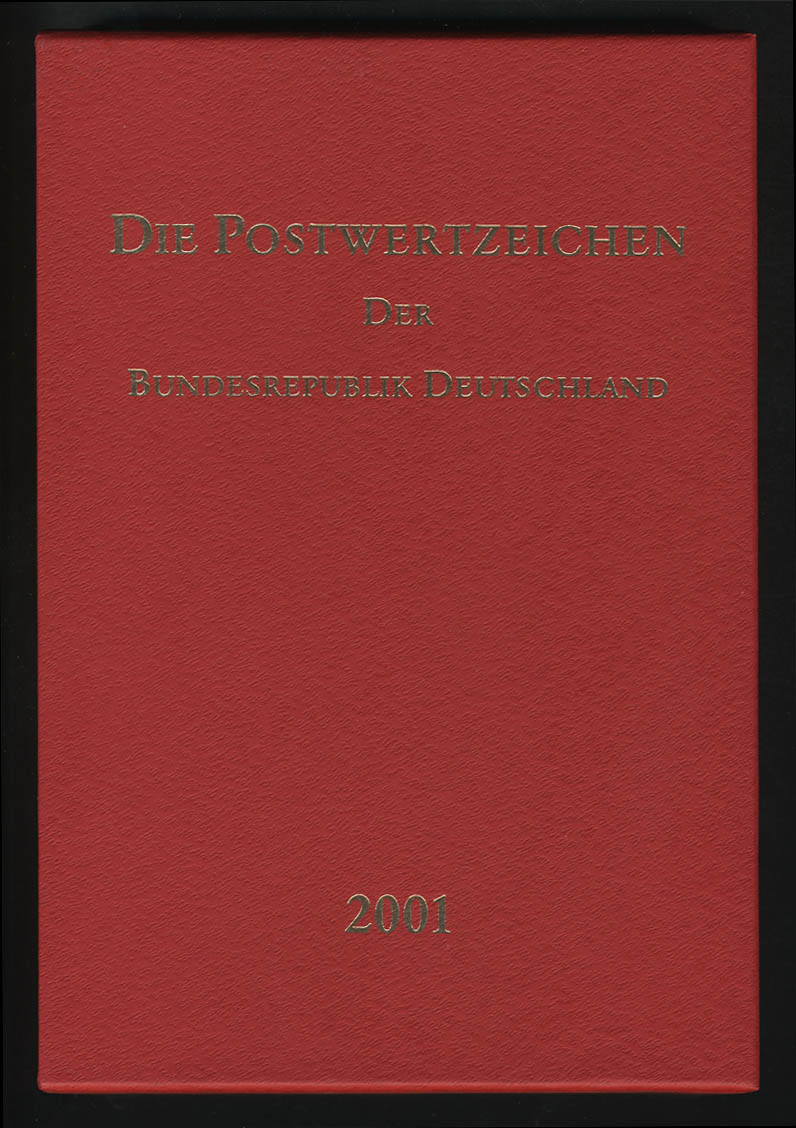 Jahrbuch Bund 2001, postfrisch ** wie verausgabt