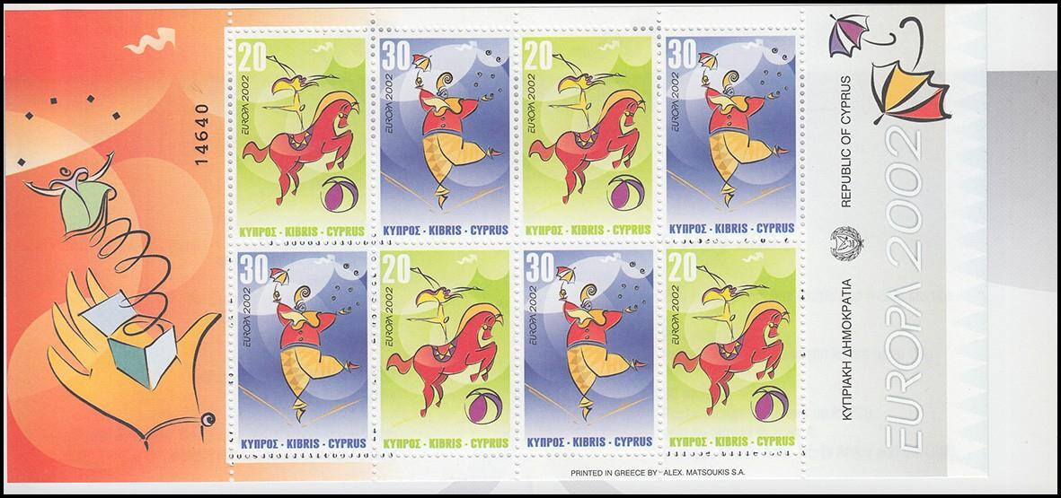 Zypern (griechisch) Markenheftchen 3 Europa / Cept 2002, postfrisch **