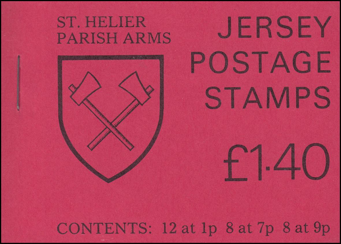Jersey Markenheftchen 0-21, St. Helier Parish Arms, **