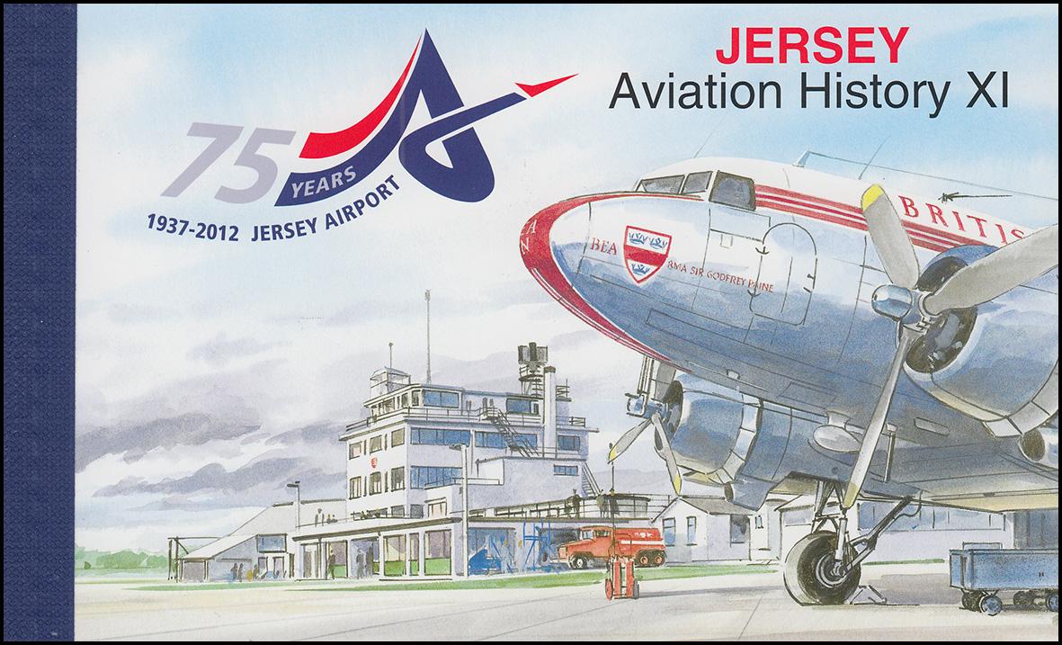 Jersey Markenheftchen 25, Geschichte der Luftfahrt, Aviation History XI, **