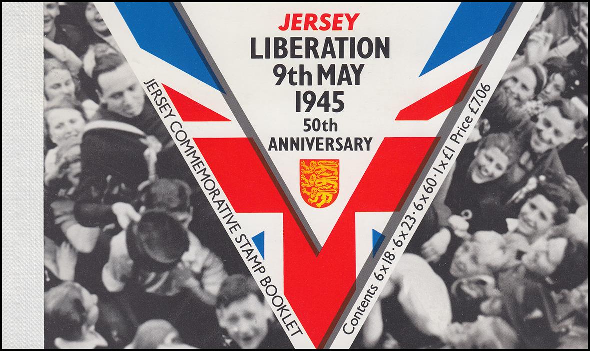 Jersey Markenheftchen 8, Befreiung: Liberation 9. May 1945, **